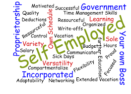 A Word Diagram for Self Employment - Mortgage Lender Gerard Buckely of Jaguar Mortgages for Wasaga Beach, Collingwood, & Thornbury.